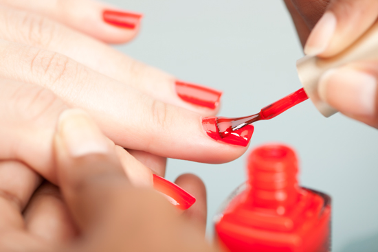 A brilliant coating of nail polish can be an effective deterrent against nail-biting.